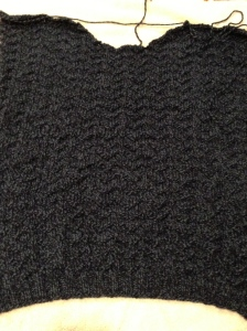 Front of sweater.