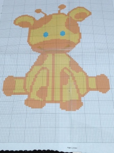 Baby Giraffe Pattern from Graphgans Unlimited