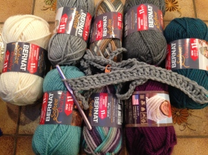 The start of the Attic24 Cosy Blanket CAL.