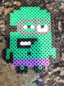 9 year old perler bead minion.
