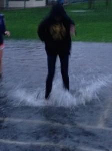 Splashes.