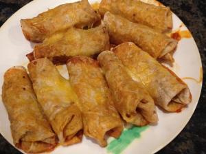 Chicken Enchiladas.