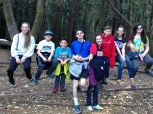Hiking at Foothills Park-Los Altos with cousins and friends.