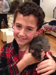 J and his rat.