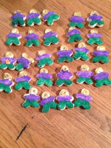 Army of gingerbread men all in uniform.
