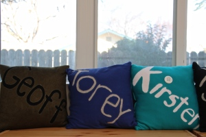 Name Pillows.