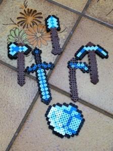 Minecraft weapons.