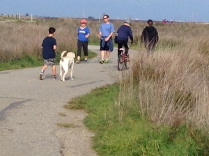 Starting our hike at the Baylands.