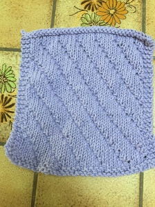 Lilac Dishcloth front.