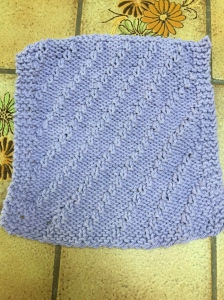 Lilac Dishcloth back.