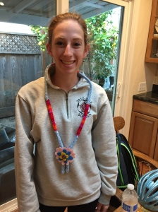 17 year old modeling our new necklace sample.