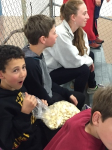 Yummy popcorn.