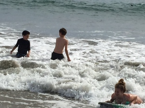 Gotta go in the ocean no matter how cold.