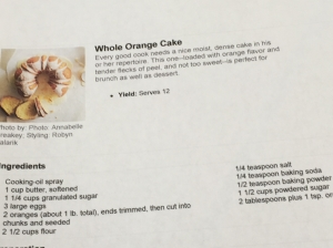 Whole Orange Cake Recipe.
