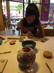 Color Me Mine with oldest daughter.